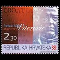 CROATIA 2002 - Scott# 509 Writer Vitezovic Set of 1 NH