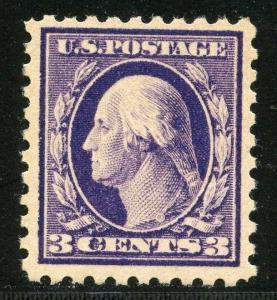 UNITED STATES  SCOTT#464 3c WASHINGTON  VF/XF   MINT HINGED FULL ORIGINAL GUM