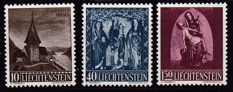 Liechtenstein 1957  Chapel of St. Mamertus (3) VF/NH