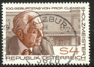 AUSTRIA 1986 Clemens Holzmeister Architect Issue Sc 1341 VFU