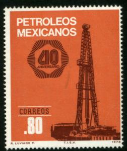 MEXICO 1161, 40th Anniv Nationalization of Oil Industry. MINT, NH. VF.