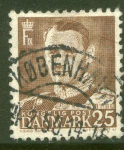 Denmark 308, 25o King Frederik IX. Used. (408)