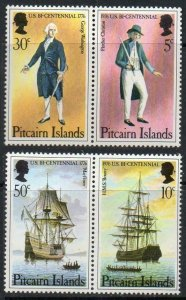 1976 Pitcairn Islands 156-159Paar Ships with sails