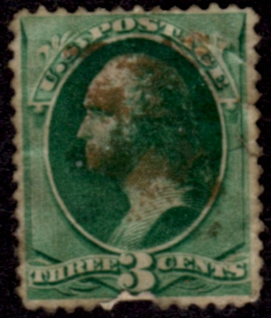 US Scott #207 - George Washington Perf 12 Continental Bank Note Co. Issue