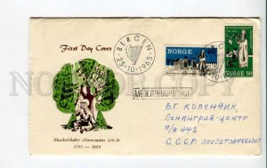 293789 NORWAY to USSR 1965 year music Harmonien real posted First Day cover