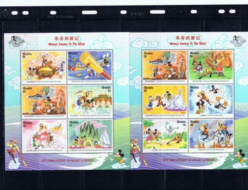 Gambia 1860g-1865a NH 1997 Disney Set