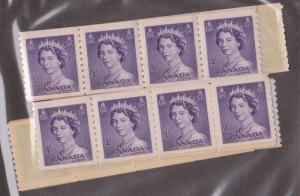Canada USC #333 Mint (52) 1953 4c Karsh Coil in Strips of 4 or More Fresh & F-VF
