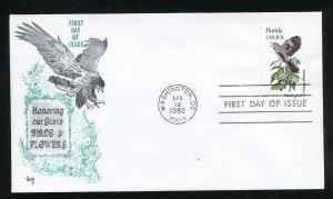 US 1961 Florida Mockingbird Orange Blossom UA Marg cachet FDC