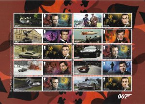 GB 2020 007 James Bond composite sheet UNMOUNTED MINT/MNH