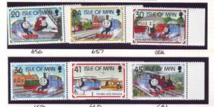 Isle of Man Sc 656-1 1995 Thomas the Tank Engine stamp set mint NH