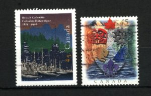 Canada #1613-14   -1    used VF 1996  PD