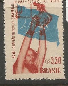 Brazil SC C89 Basketball MNH (5cyy)