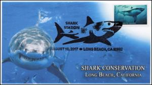 17-356, 2017, Sharks, Long Beach CA, Pictorial, Event Cover, Conservation