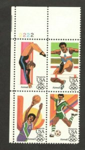 C101-C104 Summer Olympic Games Plate Block Mint/nh FREE SHIPPING