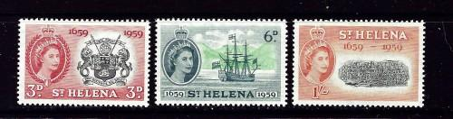 St Helena 156-58 NH 1959 set