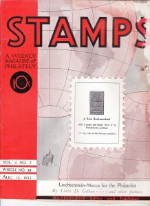 Stamps Weekly Magazine of Philately August 12, 1933 Stamp Collecting Magazine