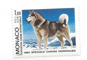 Monaco, 1366, Int'l Dog Show Monte Carlo. Single, **MNH**
