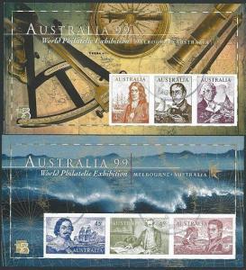 AUSTRALIA 1999 pair Navigators Sheets IMPERFORATE fine used...............40935a