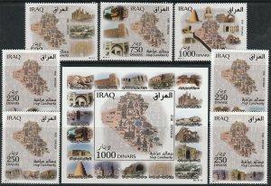 IRAQ 1896-1903, IRAQUI LANDNARKS, INCL. SOUV. SHEET.. MINT, NH. VF (494)