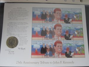 Marshall Island 1988 Sc 204a(3) John F Kennedy set MNH