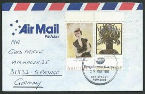 AUSTRALIA 1996 cover to Germany - nice franking - Sydney pictorial pmk.....47282