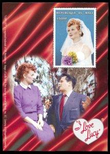 Mali Michel Block 121, MNH, I Love Lucy in wedding gown souvenir sheet