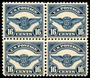 momen: US Stamps #C5 Block of 4 Mint OG NH/VLH VF