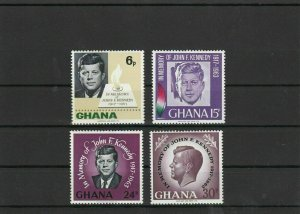 Ghana Mint Never Hinged Kennedy Stamps ref R 19360