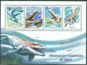 GUINEA BISSAU 2014  PRE HISTORIC WATER ANIMALS  SHEET MINT NH
