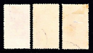 SAUDI ARABIA  EARLY OVERPRINTS USED x3 COLLECTION LOT YOU IDENTIFY AND GRADE #1