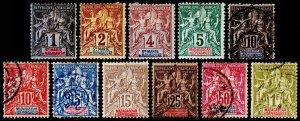 Madagascar - Malagasy Republic Scott 28 // 46 (1896-1900) M/U H F, CV $32.85 C