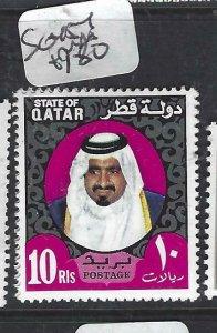 QATAR  (PP2306B)  SHEIKH 10R    SG 454       MNH