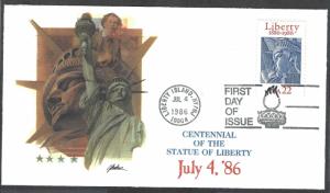 United States FDC Scott # 2224