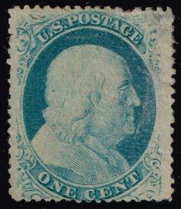 US STAMP #24 – 1857 1c Franklin, type V MH/OG