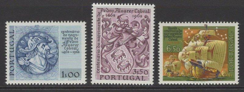 PORTUGAL SG1353/5 1969 PEDRO ALVARES CABRAL(EXPLORER) MNH