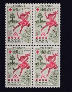 FRANCE  1975   S G  2098   60C  + 15 VALUE  BLOCK OF 4  MNH  NO F193