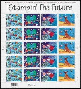 PCBstamps   US #3414/3417 Sheet $6.60(20x33c)Stampin The Future, MNH, (7)