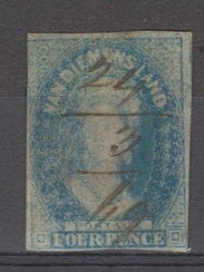 COLLECTION LOT OF # 880 TASMANIA # 13 1857 CV =$30