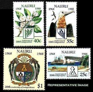 Nauru Scott 343-345 Mint never hinged.