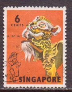 Singapore   #87  Used  (1968)  c.v. $1.00