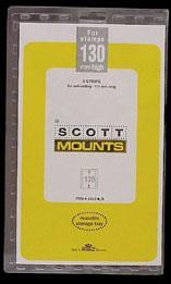 Scott Mounts Clear, 174/130 mm (pkg 6) (01012C)