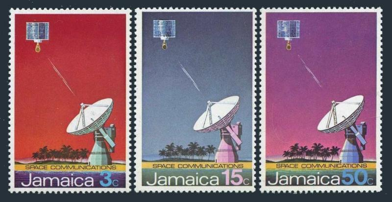 Jamaica 340-342,MNH.Michel 342-344. Earth satellite station,1972.