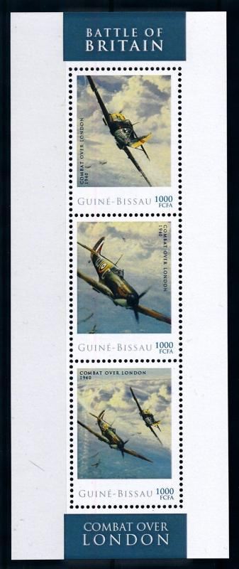[76573] Guinea Bissau 2012 WW II Battle of Britain Combat over London Sheet MNH