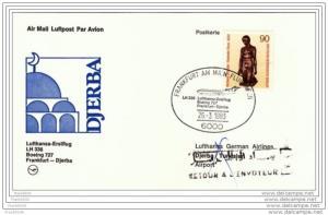 Germany - Tunisia 1983, Lufthansa First Flight, Frankfurt to Djerba with B727