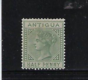 ANTIGUA SCOTT #12 1882-96  WMK 2 1/2P (GREEN) MINT LIGHT HINGED