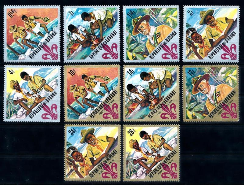 [66768] Burundi 1967 Scouting Jamboree Pfadfinder Light Toned MNH