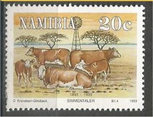 NAMIBIA, 1993, MNH 20c, Cattle . Scott 730