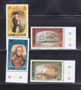 Gibraltar 394-397 Set MNH Paintings