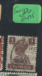 INDIA  PATIALA   (PP2807B)  KGVI  4 A    SG 112     VFU
