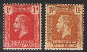 CAYMAN ISLANDS 1921 - 26 KING GEORGE V